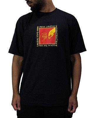 Camiseta Mess x Vision Support Preta