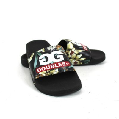 Chinelo Double-G Slide Floral DBG NOVO