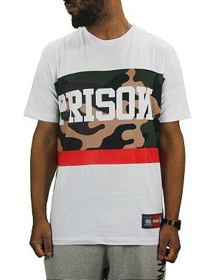 camiseta prison camuflagem