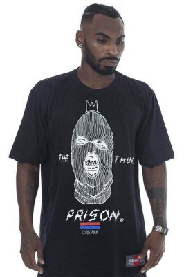 CAMISETA PRISON THE THUG PRETO
