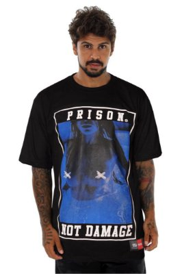 CAMISETA PRISON NOT DAMAGE PRETA
