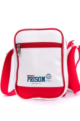 SHOULDER BAG PRISON WHITE AND RED