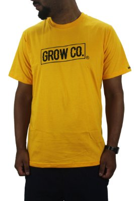 camiseta grow co yellow