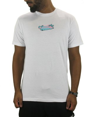 camiseta lakai blue cat branca