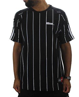 camiseta prison listrada black white