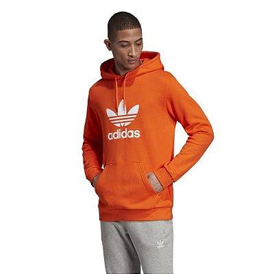 moletom adidas orange logo capuz