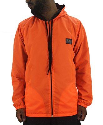 jaqueta dois lados grow preta / laranja