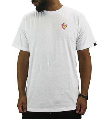 camiseta grow flamingo branca