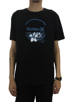 CAMISETA HURLEY FLOWERS AWAY BLACK