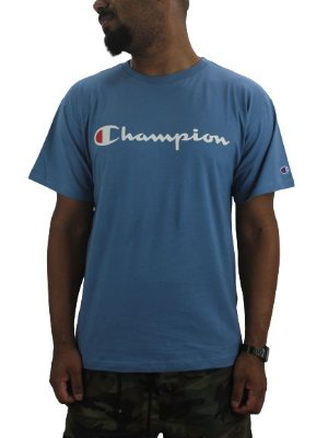 CAMISETA CHAMPION CLASSIC MED BLUE