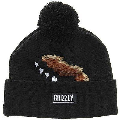 Touca Grizzly Griptape Headwear Paw Pom Beanie