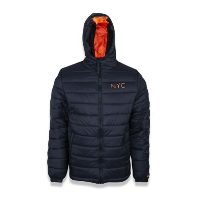 JAQUETA NEW ERA PUFFER NYC NEW YORK CITY LARANJA