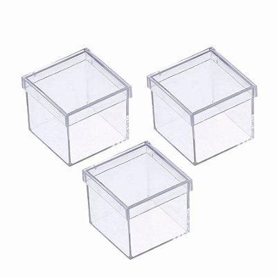 Caixinha de Acrílico 4x4 Transparente - Kit c/ 50
