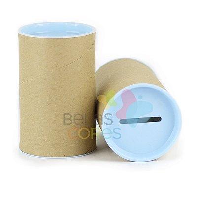 Cofrinho 10x6 para Lembrancinha - Azul Bebê - Kit c/ 10 unidades