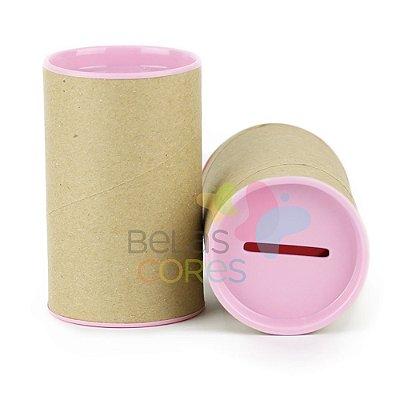 Cofrinho 10x6 para Lembrancinha - Rosa Bebê - Kit c/ 10 unidades