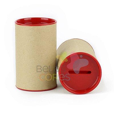 Cofrinho 10x6 para Lembrancinha - Vermelho - Kit c/ 10 unidades