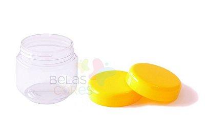 Pote de Papinha de Plástico 120gr - Amarelo - 10 Unids
