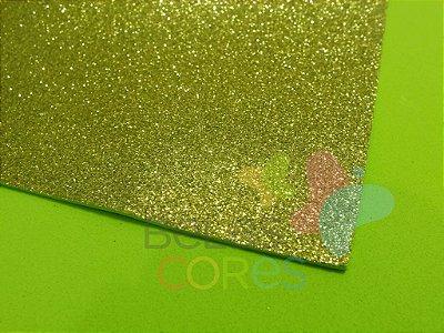 Folha de EVA 40x60cm - Glitter Verde Claro - 5 unidades