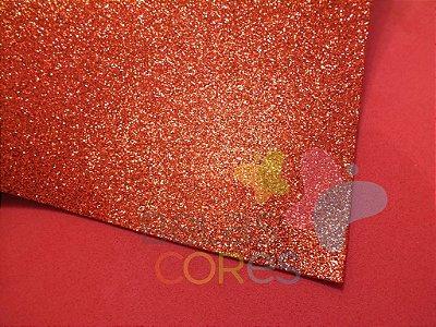 Folha de EVA 40x60cm - Glitter Vermelho - 5 unidades