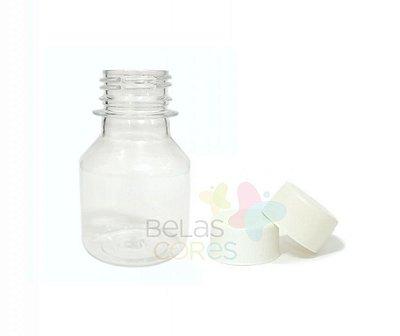 Garrafinha PET Pitoca 70 ml - Tampa Branca - 10 unidades