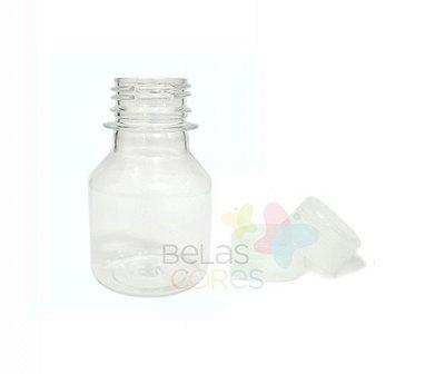 Garrafinha PET Pitoca 70 ml - Tampa Transparente - 10 unidades
