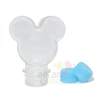 Baleiro/Tubete Mickey 90ml Tampa Azul Claro - 10 unidades