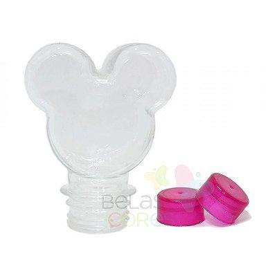 Baleiro/Tubete Mickey 90ml Tampa Pink - 10 unidades