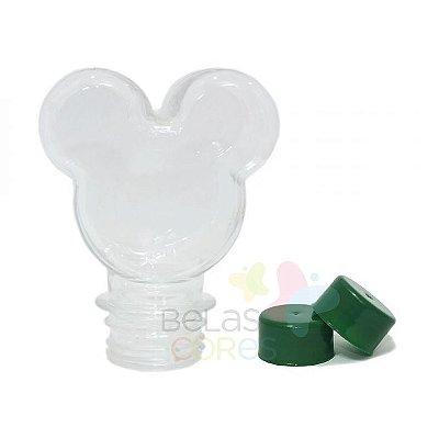 Baleiro/Tubete Mickey 90ml Tampa Verde Bandeira - 10 unidades