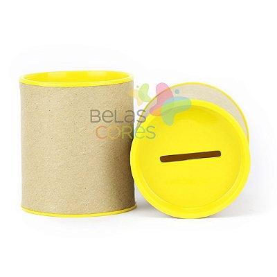 Mini Cofrinho 7x6 Amarelo - Kit c/ 10 unidades