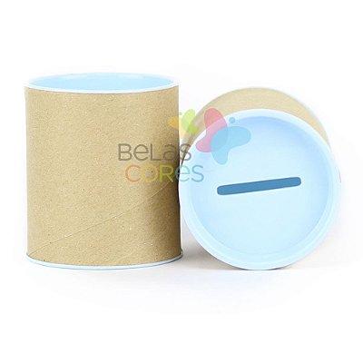 Mini Cofrinho 7x6 Azul Bebê- Kit c/ 10 unidades