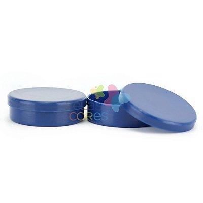 Latinhas de Plástico Mint to Be 5,5x1,5 cm Azul Marinho - Kit com 50 unidades