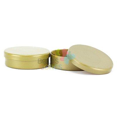 Atacado - Latinhas de Plástico Mint to Be 5,5x1,5 cm Dourada - Kit com 1000 unidades