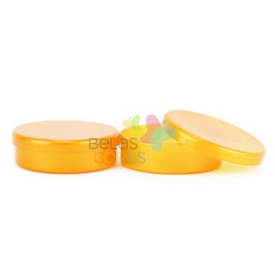 Latinhas de Plástico Mint to Be 5,5x1,5 cm Laranja Perolado - Kit com 50 unidades