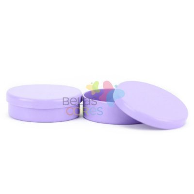 Latinhas de Plástico Mint to Be 5,5x1,5 cm Lilás - Kit com 50 unidades