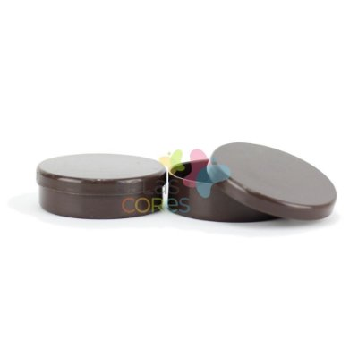 Latinhas de Plástico Mint to Be 5,5x1,5 cm Marrom - Kit com 100 unidades