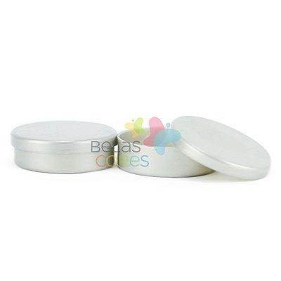 Latinhas de Plástico Mint to Be 5,5x1,5 cm Prata - Kit com 100 unidades