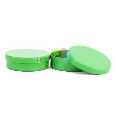 Atacado - Latinhas de Plástico Mint to Be 5,5x1,5 cm Verde Bandeira - Kit com 500 unidades