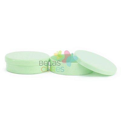 Atacado - Latinhas de Plástico Mint to Be 5,5x1,5 cm Verde Bebê - Kit com 500 unidades