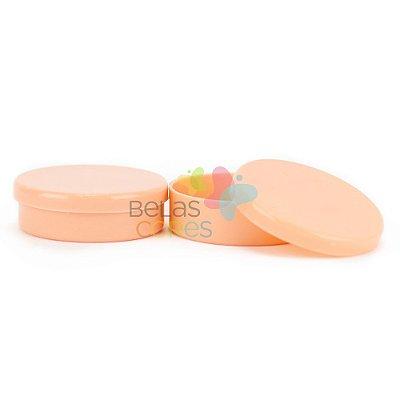 Latinhas de Plástico Mint to Be 5,5x1,5 cm Salmão - Kit com 100 unidades