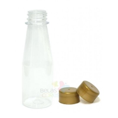 Garrafinha Cajuzinho - Suco PET 100 ml Tampa Dourada - 10 unidades