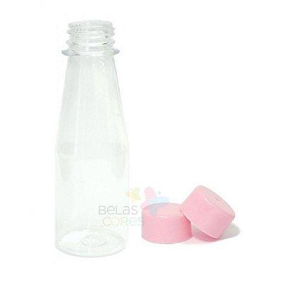 Garrafinha Cajuzinho - Suco PET 100 ml Tampa Rosa - 10 unidades