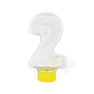 Tubete Pet Número 2 - 80 ml Tampa Amarela - 10 unidades