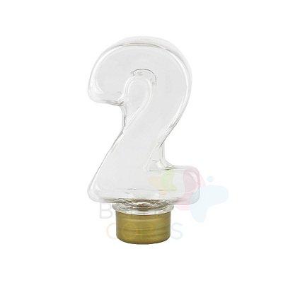 Tubete Pet Número 2 - 80 ml Tampa Dourada - 10 unidades
