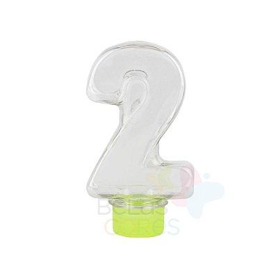 Tubete Pet Número 2 - 80 ml Tampa Verde Claro - 10 unidades