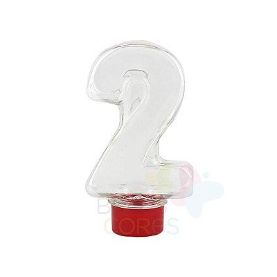 Tubete Pet Número 2 - 80 ml Tampa Vermelha - 10 unidades