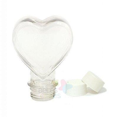 Tubete Pet Coração 100 ml Tampa Branca - 10 unidades