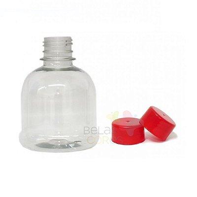 Frasco Cilíndrico 200 ml Tampa Vermelha - 10 unidades