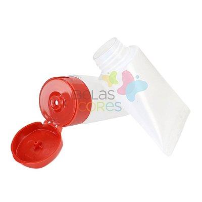 Bisnaga Plástica 30gr - Tampa Vermelha - 10 unidades