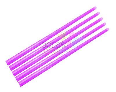 Canudo Rosa Glitter - 50 unidades