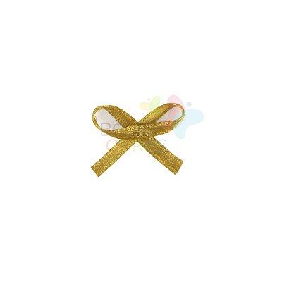 Mini Lacinho de Cetim Mosquitinho Dourado - 100 unidades